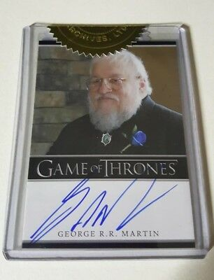 Game Of Thrones S02 George RR Martin Autograph Card