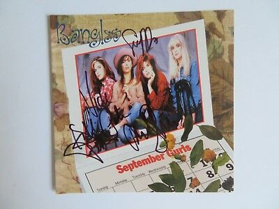 Signed Autograph CD Booklet The Bangles By All 4 - September Girls