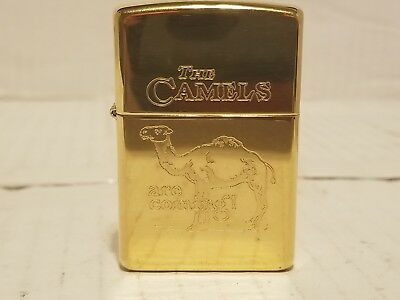 """1996 Vintage Zippo """"The Camels Are Coming!"""" UNFIRED! Gold plated! NR! RARE!!!"""