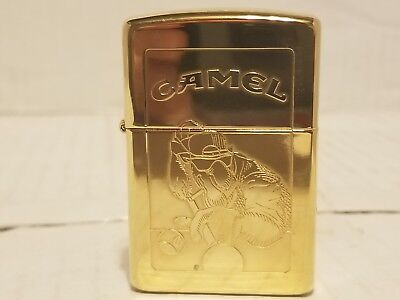 1996 Vintage Gold Plated Camel APA zippo! Sealed! UNFIRED! RARE! NR!