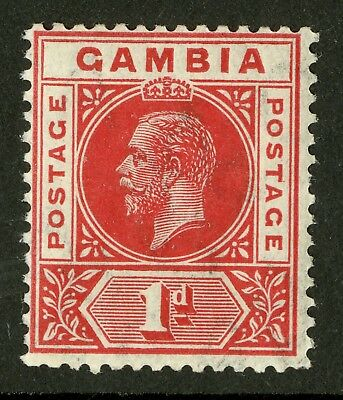 Gambia   1912-22  Scott # 71a  Mint Lightly Hinged
