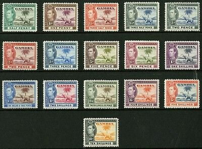 Gambia   1938-46  Scott # 132-143  Mint Lightly Hinged Set
