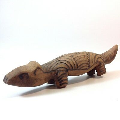 Australian Aboriginal Hand Carved and Decorated Wooden Animal