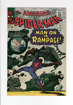 AMAZING SPIDER-MAN #32 - BEAUTIFUL NEAR MINT - AWESOME COVER By STEVE DITKO!