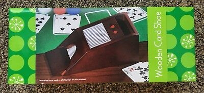 Wooden Card Shoe ~ New in Box ~ Two deck capacity ~ Mahogany-finished wood shoe