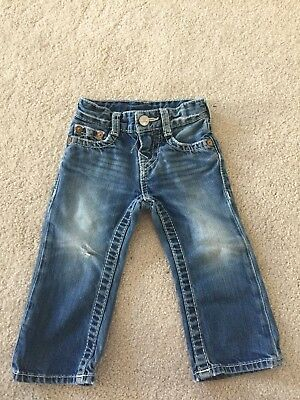 True Religion Baby Gial Jeans 12-18 Month Distrrssed
