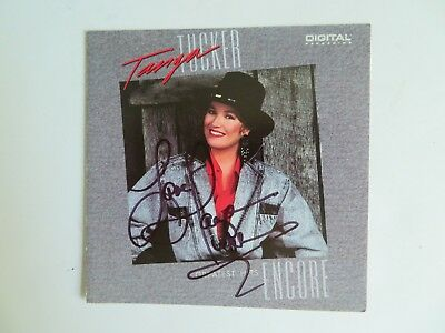 Signed Autograph CD Booklet Tanya Tucker - Greatest Hits Encore