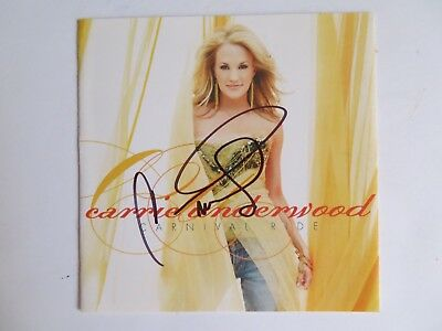 Signed Autograph CD Booklet Carrie Underwood - Carnival Ride