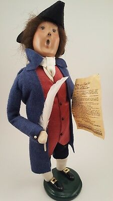 Byers Choice 2001 Exclusive Williamsburg Colonial Man with Quill Pen