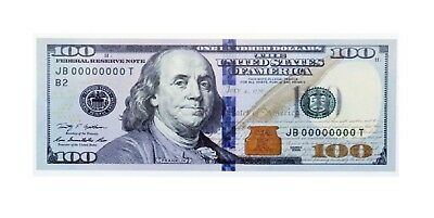 $100 Bill (One Hundred Dollar Bill) Blue Ribbon - Circulated to Uncirculated