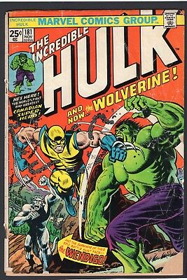 (1974) Incredible Hulk #181 First Full Appearance Of Wolverine!