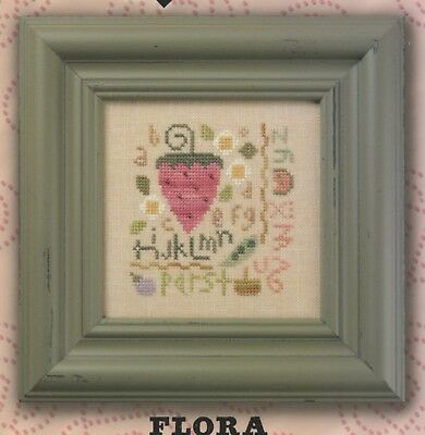 Lizzie Kate - Strawberry Sampler Flora McSampler Quick It Cross Stitch Pattern