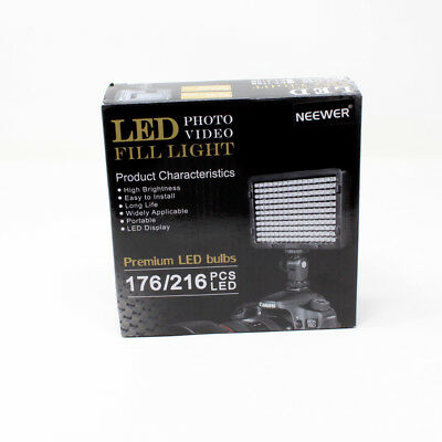 Neewer Fill Light Photo 176 LED Video Premium Light New in Box With Instructions