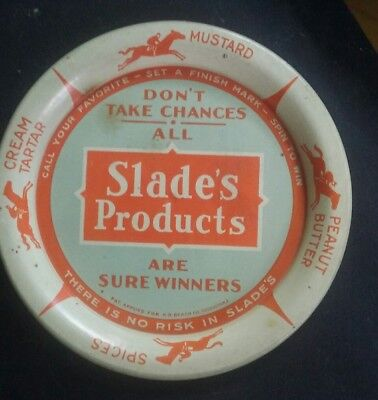 Antique tip tray advertising Slade's products Coshocton ohio  1890