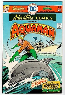 ADVENTURE COMICS #443 Starring Aquaman -Aparo Cover & Art NM 1976 Vintage Comic