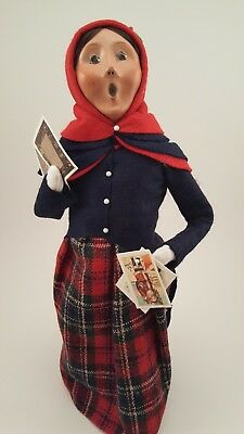 Byers Choice Female Caroler with Christmas Cards 2013