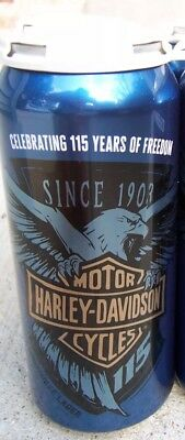 Harley Davidson 115th Beer Anniversary Beer Can New Single Can. Very Limited.