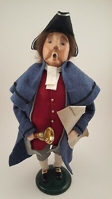 Byers Choice Male Patriot Caroler with Bell and Paper 2002