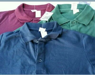 SIZE 4 /6 /10 or 12 basic navy/ green /burgundy  button polo top[ school] new