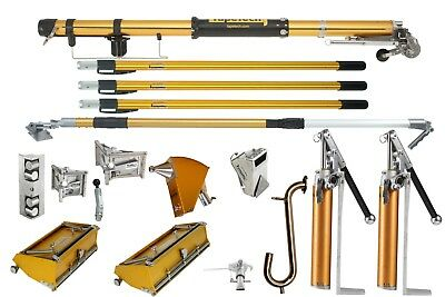 TapeTech®  Drywall Taping Tools Pro Full Set! 2 Heads! 2 Pumps! W/ Nail Spotter!