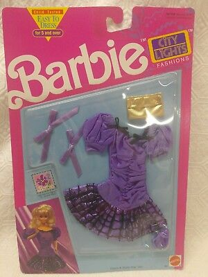 Barbie City Lights Fashions Purple Dress from 1991 New
