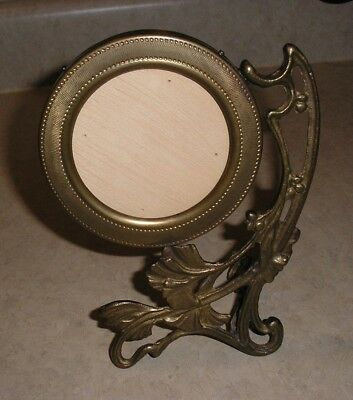 Old Art Deco/Art Nouveau Brass Table Top Picture Frame Stand...Beautiful