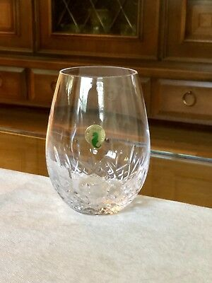 A Pair Of Waterford Crystal Lismore Nouveau Stemless Deep Red Wine Glasses