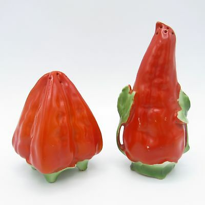 Antique Royal Bayreuth Red Hot Peppers, Salt and Pepper Shakers, Germany, NR