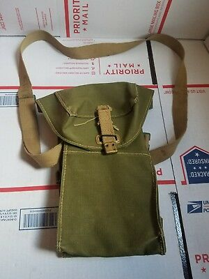 WWII MILITARY SUPPLY BELT SHOULDER POUCH BAG LIGHT II RIL LTD 5/1944 army green