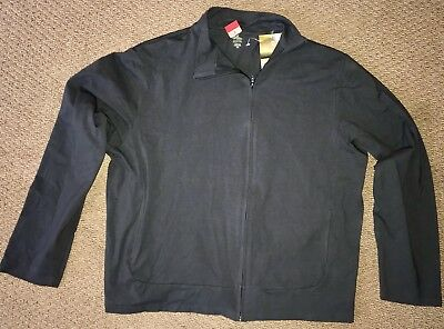 Of The Earth Mens Zippered Jacket  Organic Cotton Black XL Extra Large