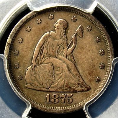 1875 s Twenty Cent Piece 20c PCGS VF 30 Seated Liberty US Silver Certified Coin