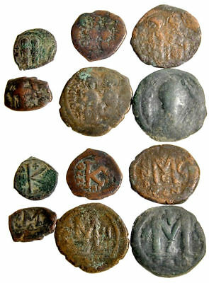 Lot of 6 Byzantines Bronzes, Folles and Half Folles