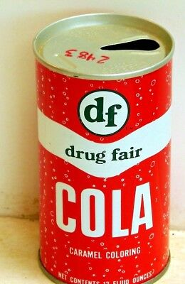 Drug Fair Cola; Drug Fair, Inc.; Alexandria, VA; Steel Soda Pop Can