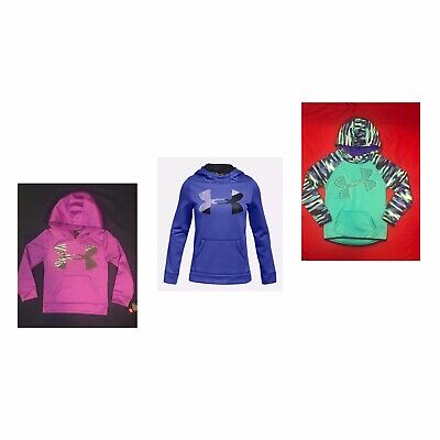 Under Armour Big Girl Storm Water Resistant Fleece Highlight Hoodie L XL Youth
