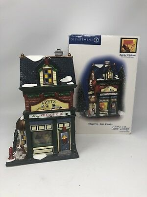 DEPARTMENT 56 Snow Village RETIRED 55365 VILLAGE PETS- SALES AND SERVICE