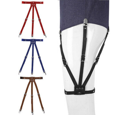Shirt Stays for Men Fully Adjustable Garters Suspenders with Side-fixing Locking