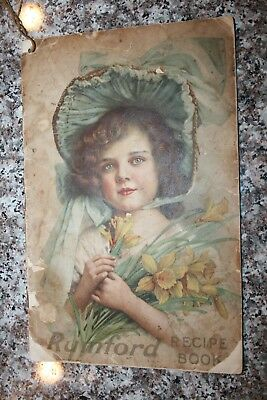 Antique RUMFORD RECIPE  BOOK -  Cooking Recipes - Beautiful Young Girl On Cover