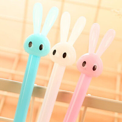 1pcs 0.38mm Cute Kawaii Plastic Gel Pen Lovely Cartoon Rabbit Pen Stationery #B