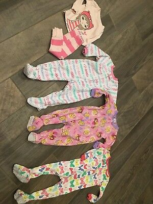 4 Piece Lot Of Girls Pajamas 24 Months
