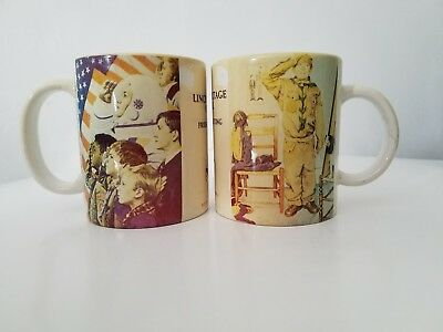 Set of 2 Boy Scouts Collectible Vintage Coffee Mugs Lincoln Hertiage Council