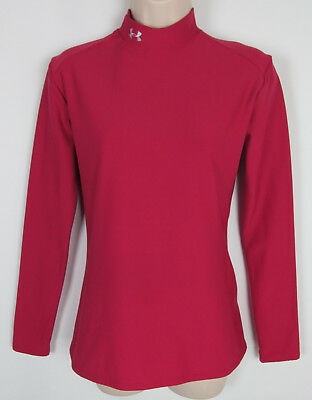 Under Armour Mock compression shirt base layer athletic top Fuchsia Womens  XL