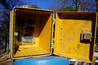 Traffic Signal Flasher Cabinet-Vintage-Crouse Hinds-COMPLETE w/Flasher