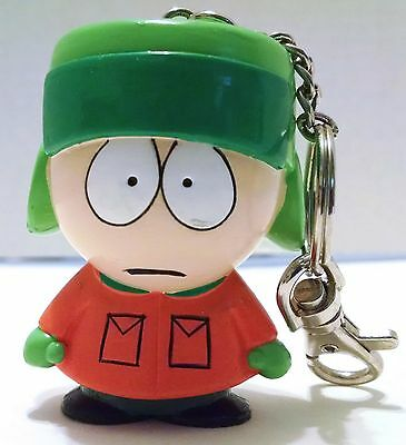 "South Park Kyle Keychain 1998  2.5"" Fun4All Cartoon green orange 90's"