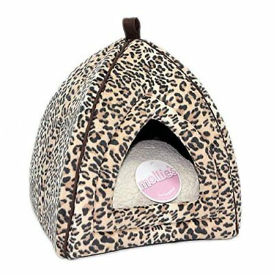Petface - Mollie's Faux Suede Leopard Igloo Cat Bed