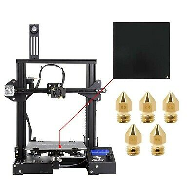 Comgrow Ender-3X Creality 3D Printer Upgraded Version with Tempered Glass and Fi