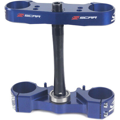 NEW Scar Racing MX Yamaha YZ125 2015 2016 2017 Blue Triple Clamps Bar Mounts Set