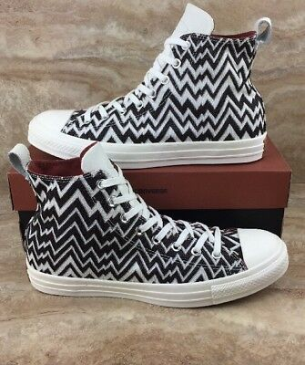 more photos 99b6f c8cbc Converse X Missoni Chuck Taylor All Star Hi Top Shoes White Brown Size 10