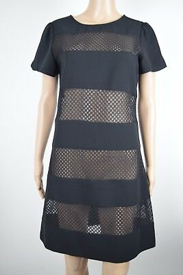 f7cefcdd50d Abs Collection by Allen Schwartz Womens Dress Shift Cocktail Sheer Lace Size  4