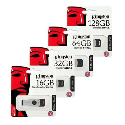 Kingston 16GB 32GB 64GB 128GB SWIVL USB 3.1 3.0 Flash Pen Drive lot Memory Stick