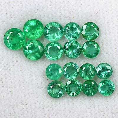 4.77 Cts Natural Emerald Loose Gemstone Round Top Green Cut Lot 17 Pcs Zambia $